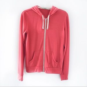 Abbot Main Coral Zip Up Hoodie Size S
